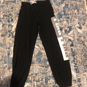 victoria secret pink joggers black xs pants